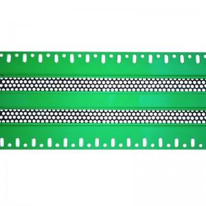 Щелевые диффузоры SD+HP 2-h90-L800 (RAL 6038/6038/perf 9005)