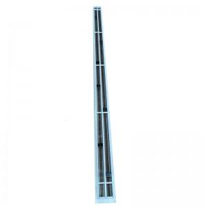 Щелевые диффузоры SD+P 2-h90-L-1000 (RAL 9016/9016/perf 9005)