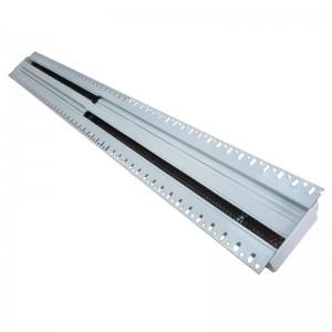 Щелевые диффузоры скрытого монтажа SD+HP 2-h90-L-1000 (RAL 9016/9016/perf 9005)