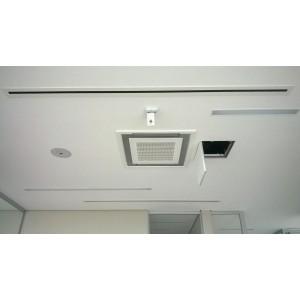 Щелевые диффузоры SD+P 1-h50-L-1000  (RAL 9016/9016/perf 9016)