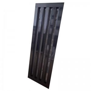Щелевые диффузоры SD+P 4-h170-L500 (RAL 9005/9005/perf 9016)