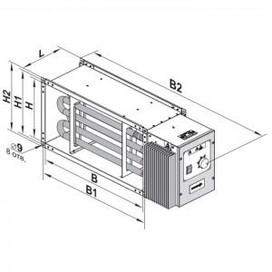 Электрический нагреватель Вентс НК 600*350-18,0-3 У (1)